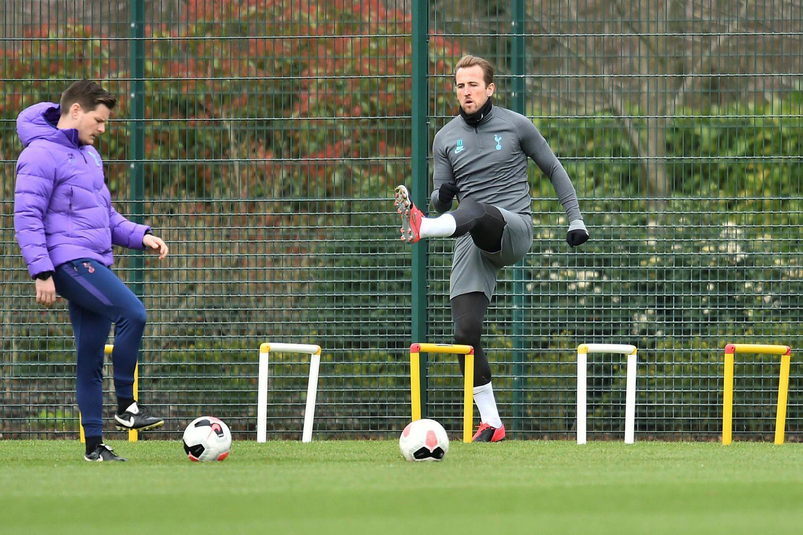 Harry Kane á æfingu með Tottenham.