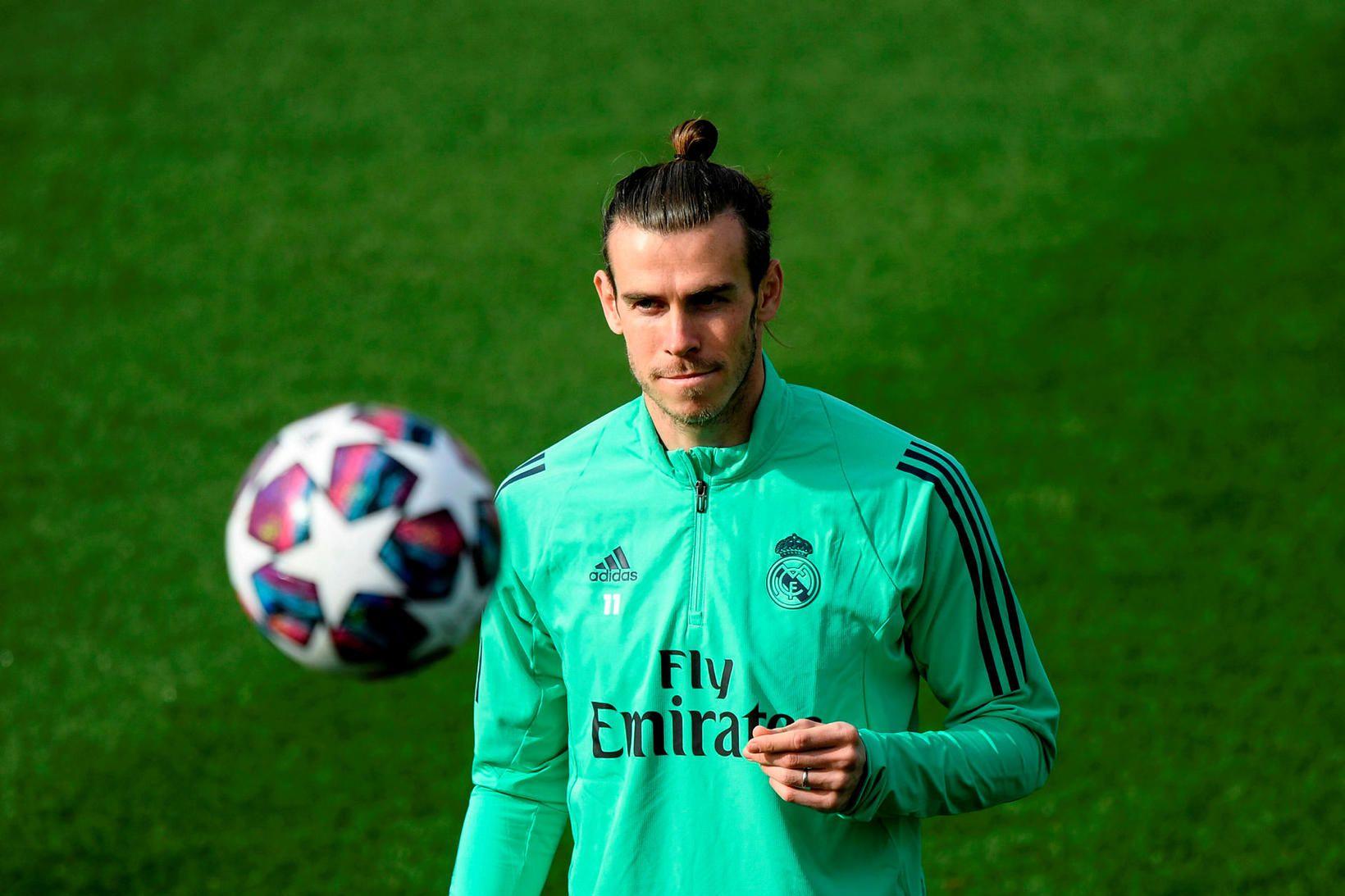 Gareth Bale á æfingu hjá Real Madrid.