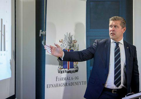 Bjarni Benediktsson, fjármálaráðherra, ræddi fjárlagafrumvarpið í Ísland vaknar.
