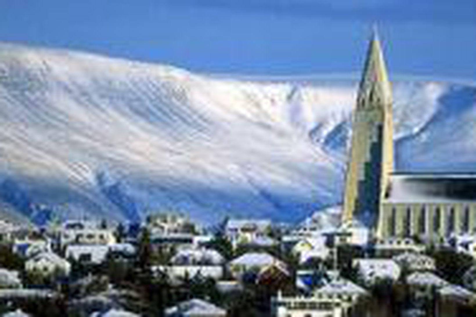 Útsýni til Esjunnar lyftir íbúðaverði í Reykjavík.