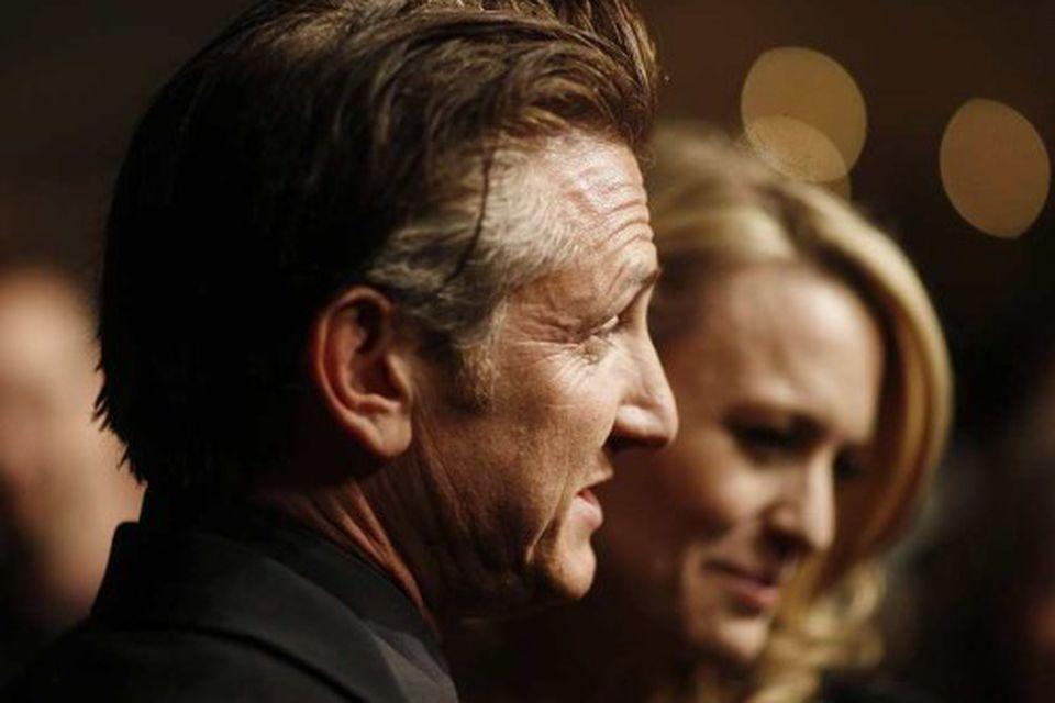 Hjónin Sean Penn og Robin Wright Penn.