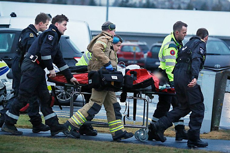 Four people are in hospital in Reykjavik with serious injuries.