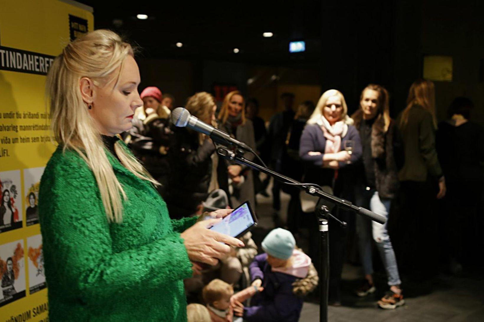 Leikkonan Nanna Kristín Magnúsdóttir setti viðburðinn formlega.
