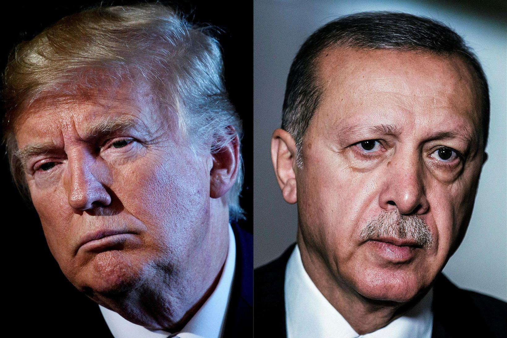 Forseti Bandaríkjanna, Donald Trump, og forseti Tyrklands, Recep Tayyip Erdogan.