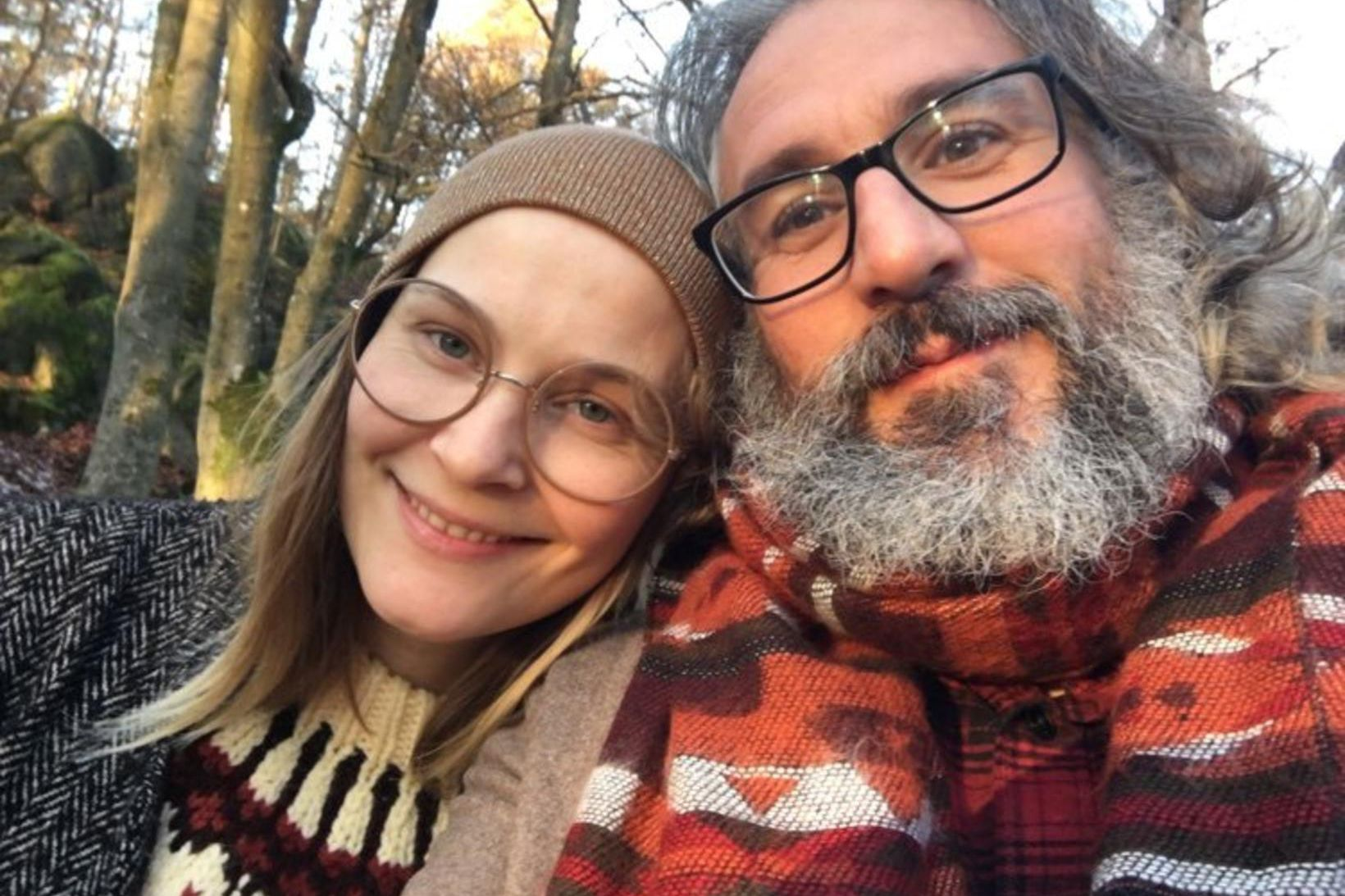 María Hjaltadóttir ásamt kærasta sínum, hinum sænska Christofer Bocker, handritshöfundi …