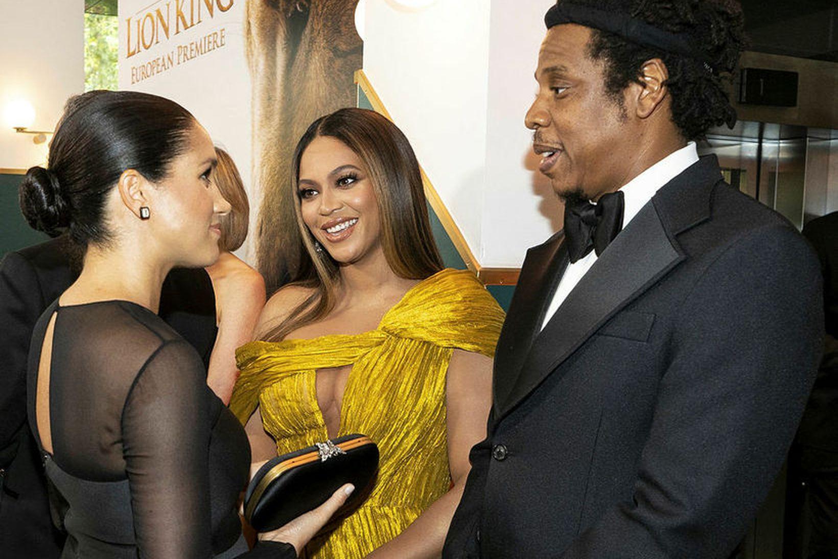 Meghan hertogaynja spjallaði við Beyoncé og Jay-Z á frumsýningu í …