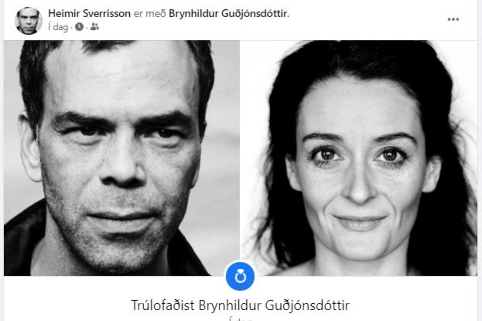 Heimir Sverrisson og Brynhildur Guðjónsdóttir eru trúlofuð.