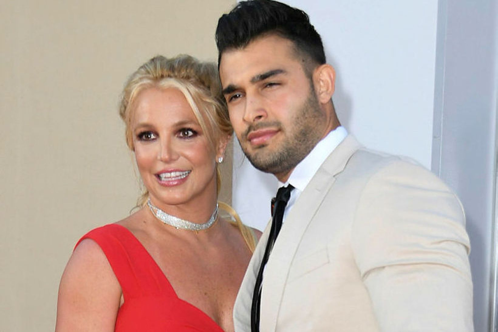 Britney Spears og kærastinn Sam Asghari.