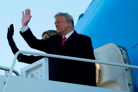 Donald Trump, fyrrverandi Bandaríkjaforseti og Melania Trump, fyrrum forsetafrú. Mögulegt er að Trump fái ekki …