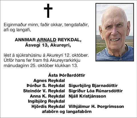 Annmar <U>Arnald</U> Reykdal,