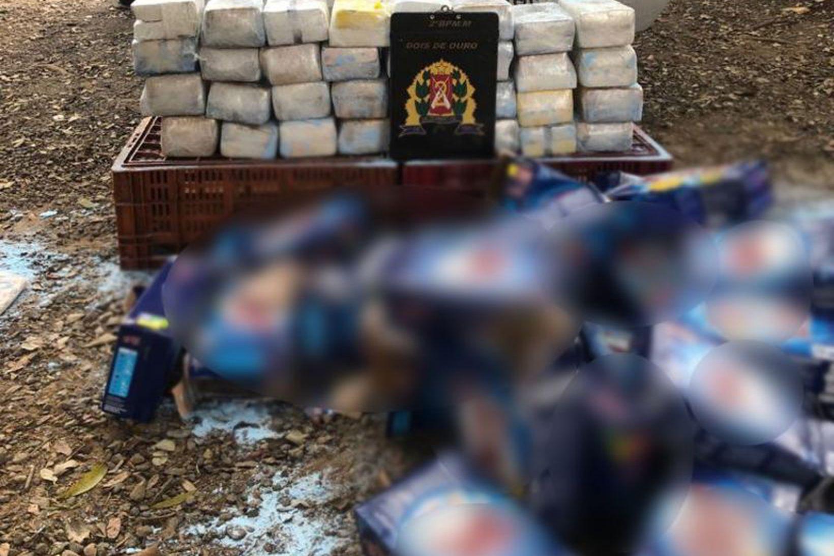 Lögreglan fann um 80 kíló af kókaíni í þvottaduftspakkningum.
