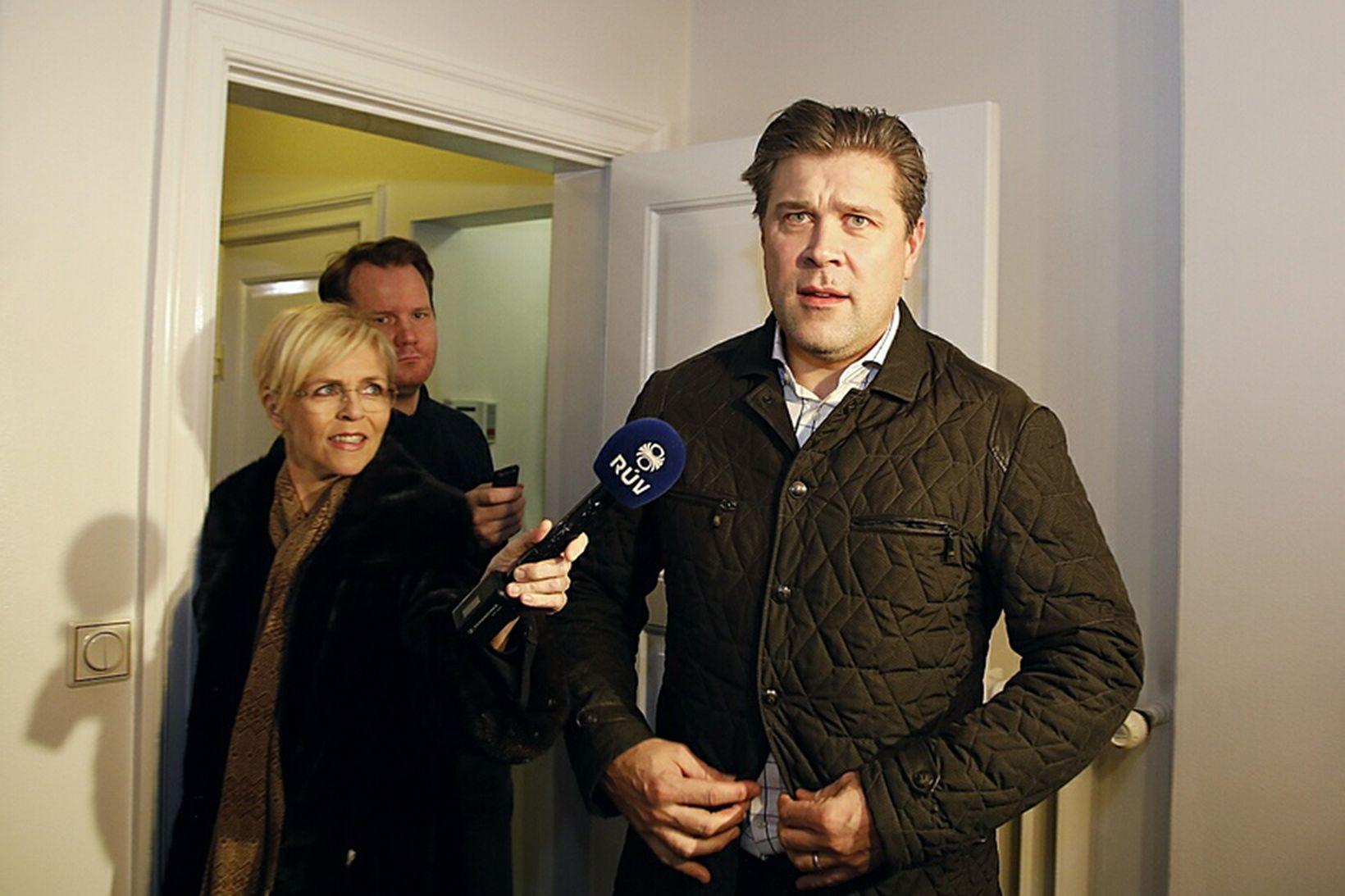 Bjarni Benediktsson ræddi við fjölmiðla eftir að hafa fundað með …