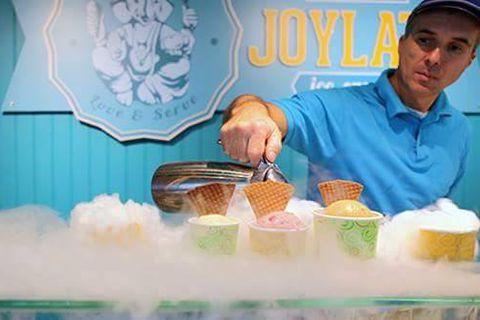 The ice cream is frozen to order using liquid nitrogen.