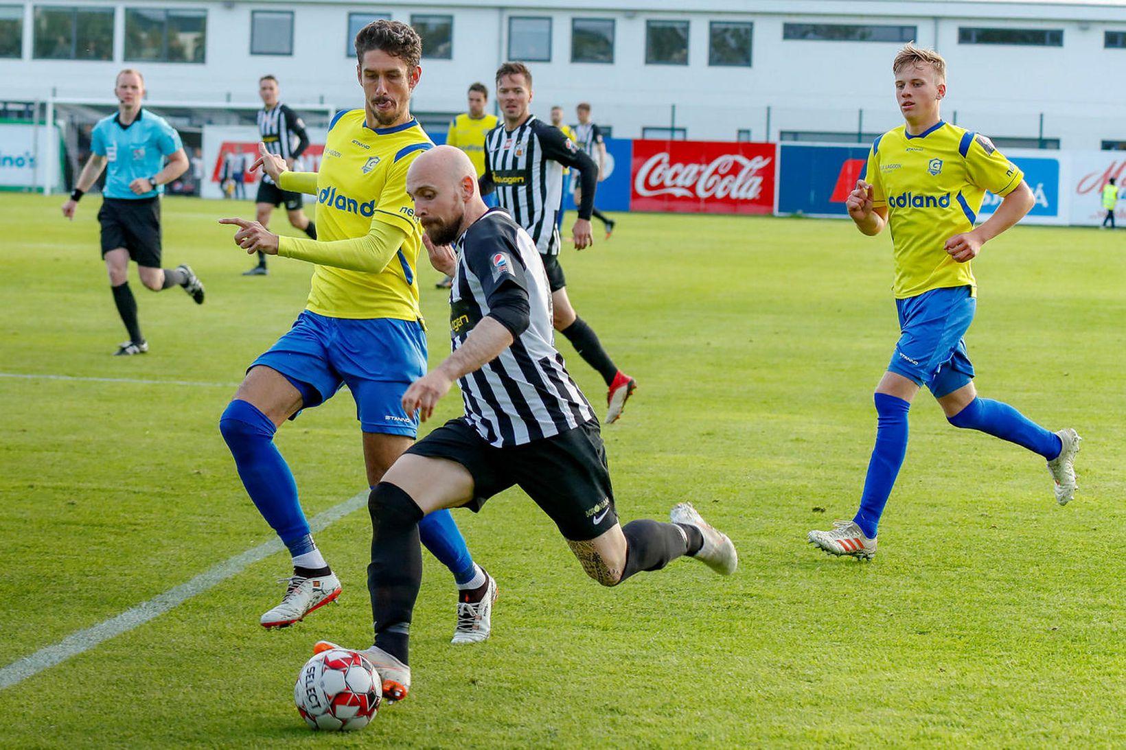 Rodrigo Gómez í leik með Grindavík gegn KR.