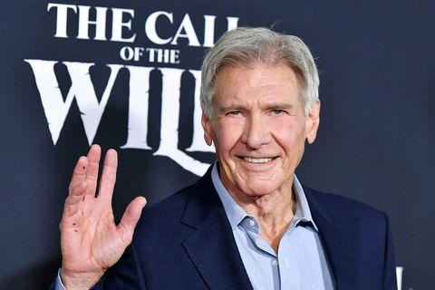 Harrison Ford sést hér á frumsýnginu á nýjasta verkefni sínu The Call of the Wild.