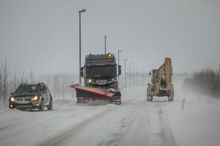 Snowploughs at work this morning.