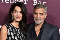 Amal Clooney og George Clooney eiga tvö börn.
