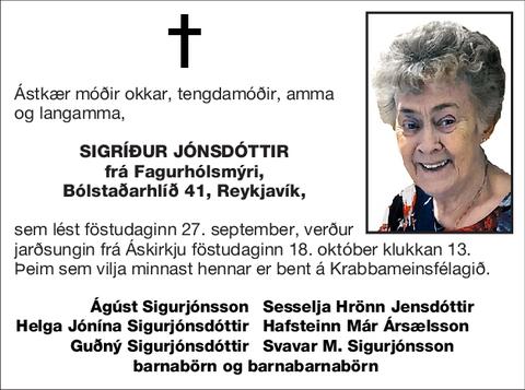 Sigríður Jónsdóttir