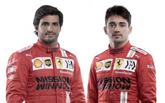 Ökumenn Ferrari 2021 (f.v.) Carlos Sainz og Charles Leclerc.