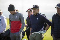 Guðmundur Ágúst Kristjánsson og Haraldur Franklín Magnús hafa lengi fylgst að í golfinu.