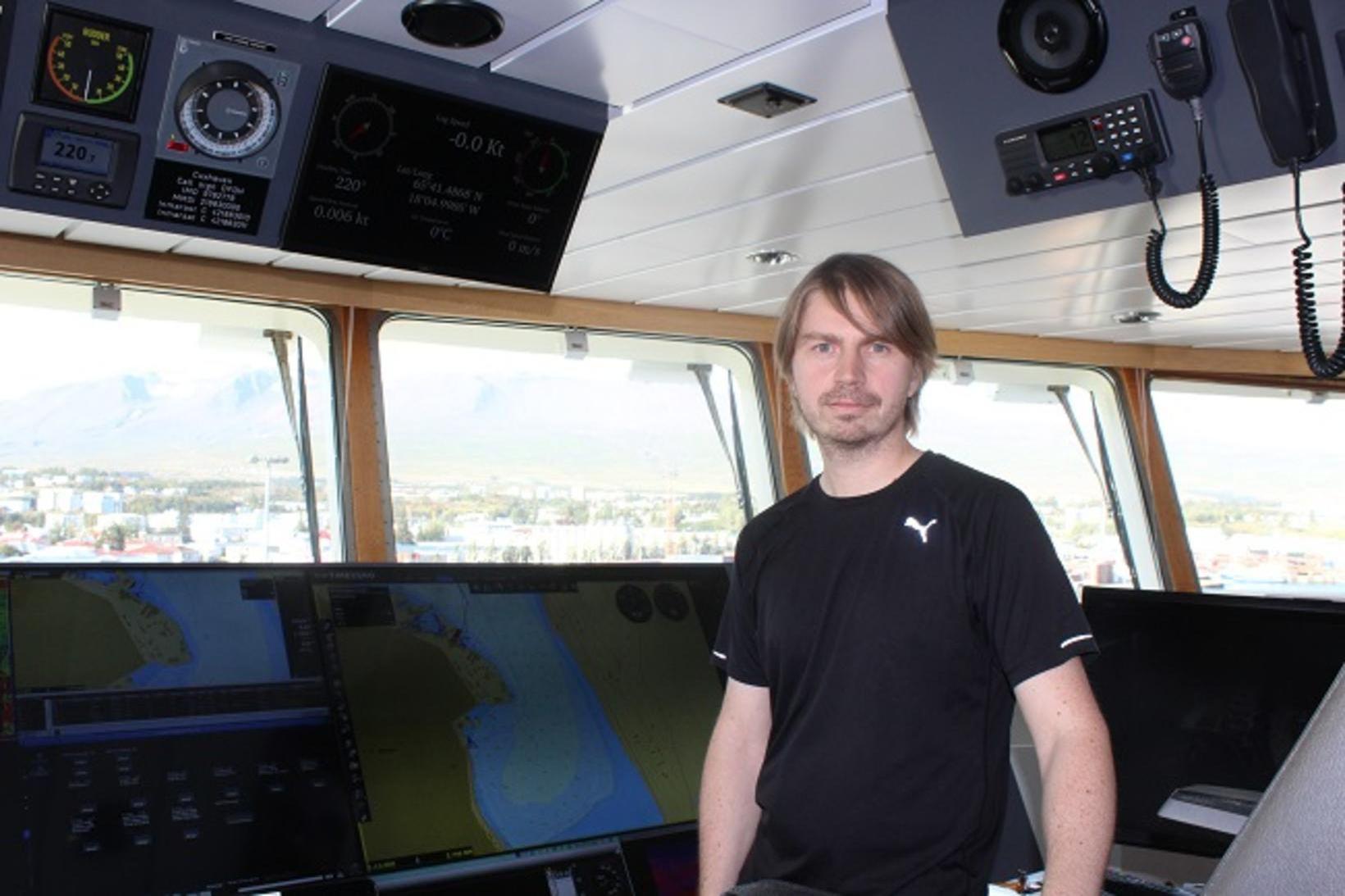 Stefán Viðar Þórisson, skipstjóri á Cuxhaven, segir alltaf gaman að …