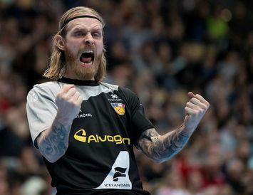 Björgvin Páll Gústavsson átti stórleik gegn Makedóníu í kvöld á HM.
