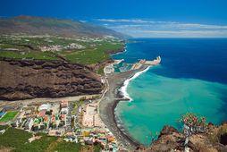 Horft yfir strandlengju La Palma.