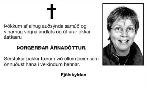 Þorgerðar Árnadóttur.