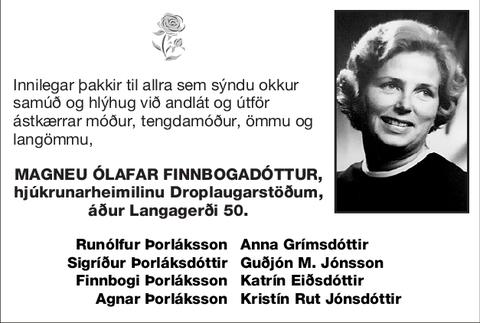 Magneu Ólafar Finnbogadóttur,