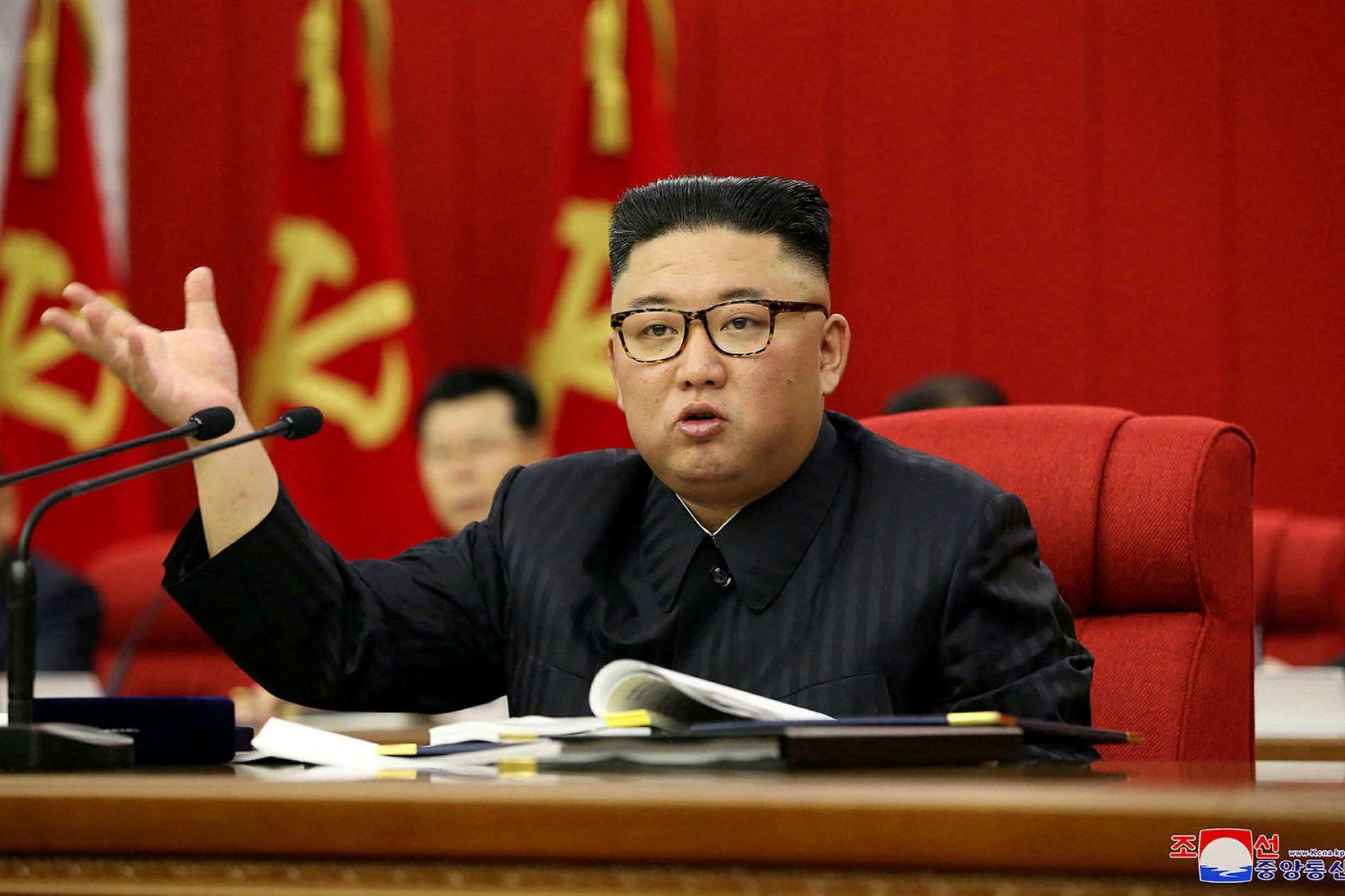 Kim Jong-un síðastliðinn þriðjudag.