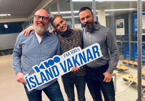 Björn Þórir Sigurðsson, Björgvin Franz Gíslason og Freyr Hákonarson voru gestir á karlafundi í Ísland vaknar þar sem vandamál miðaldra karlmanna voru til umræðu.