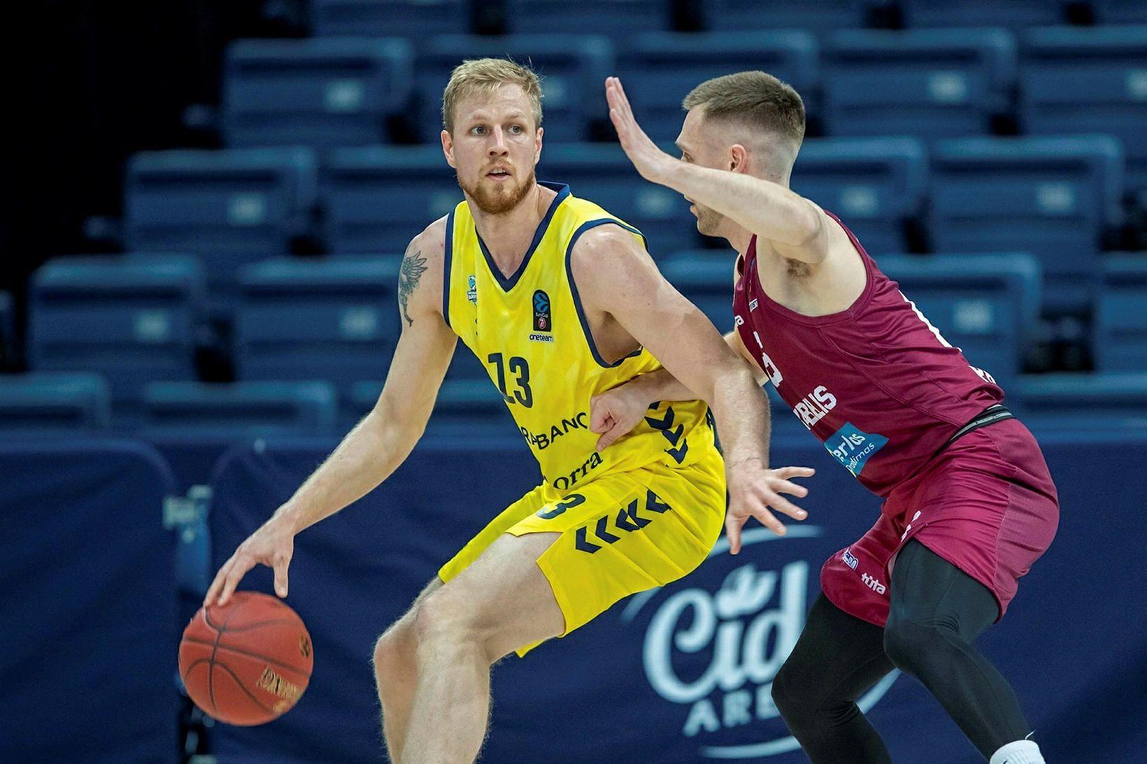 Haukur Helgi Pálsson í leik með Andorra á tímabilinu.