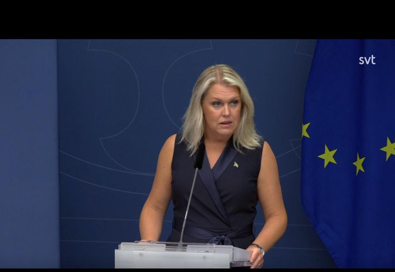 Sweden's Minister of Health Lena Hallengren.