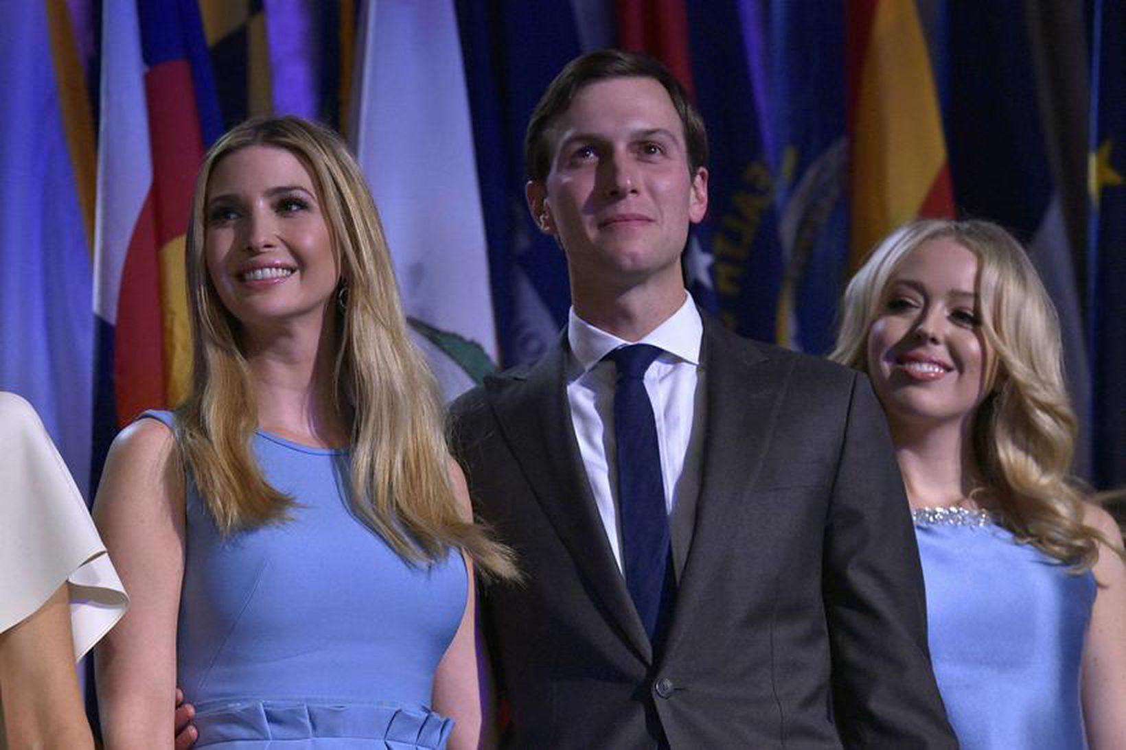 Ivanka Trump, Jared Kushner og Tiffany Trump.