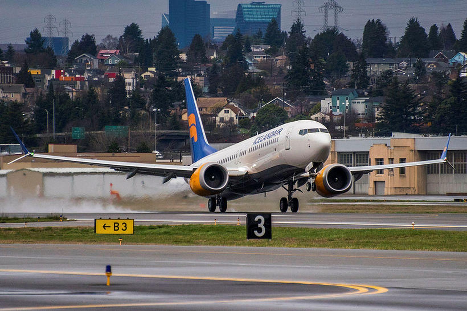 Boeing 737 Max flugvél Icelandair.