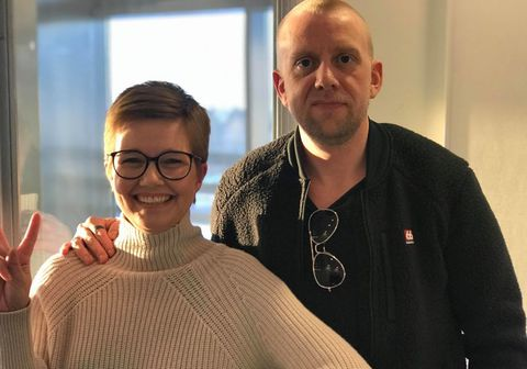 Helgi Seljan fjölmiðlamaður og Kolbrún Björnsdóttir, nýráðinn framkvæmdastjóri Líf styrktarfélags.
