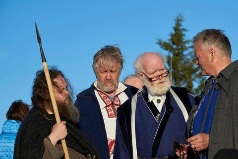 Chieftain Jörmundur Ingi Hansen (third from left).