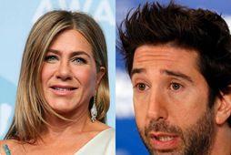 Jennifer Aniston og David Schwimmer eru sögð vera að hittast.