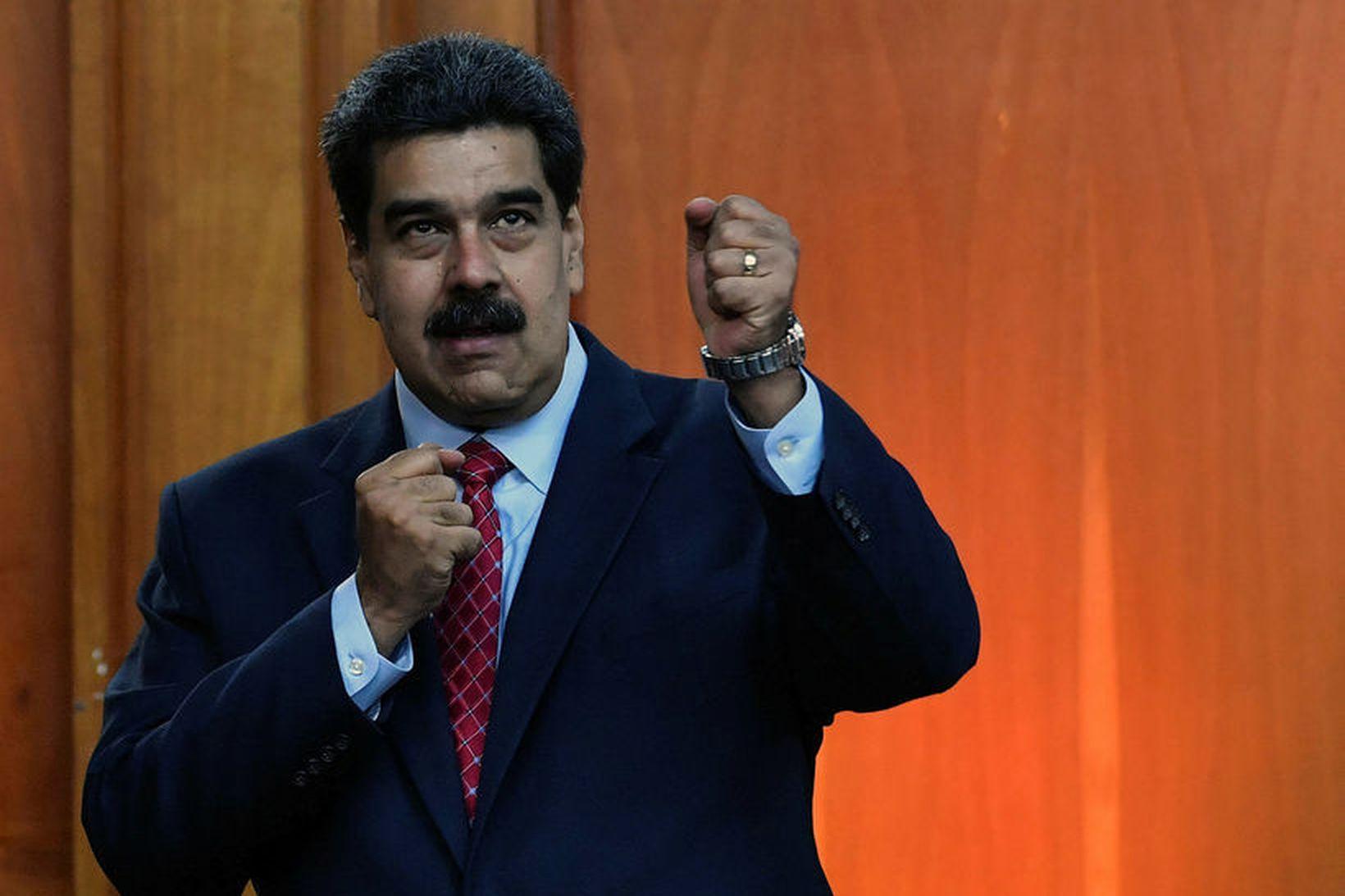 Nicolas Maduro er lítt hrifinn af afarkostum Evrópuríkjanna.