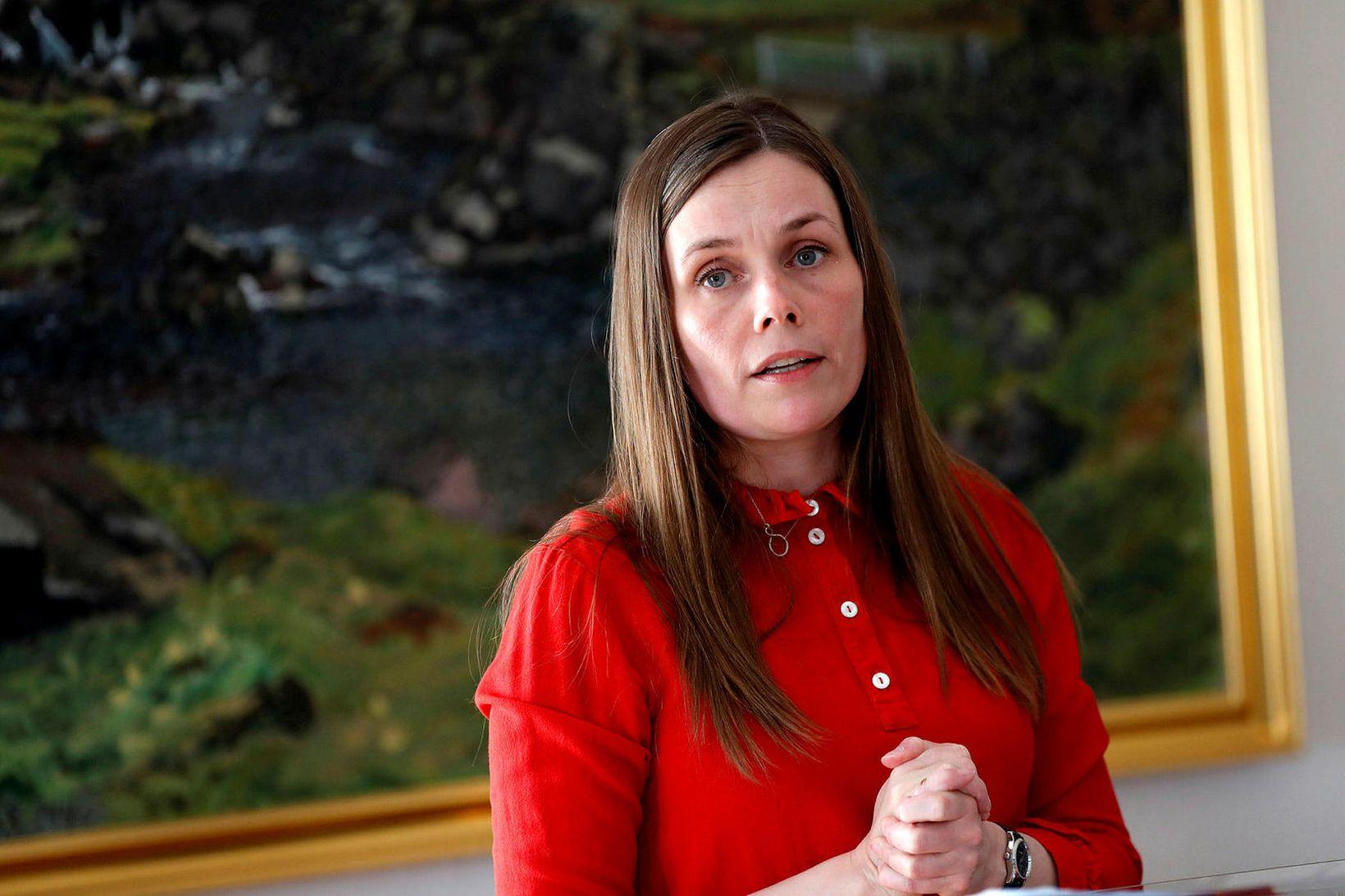 Katrín Jakobsdóttir, forsætisráðherra og formaður VG.
