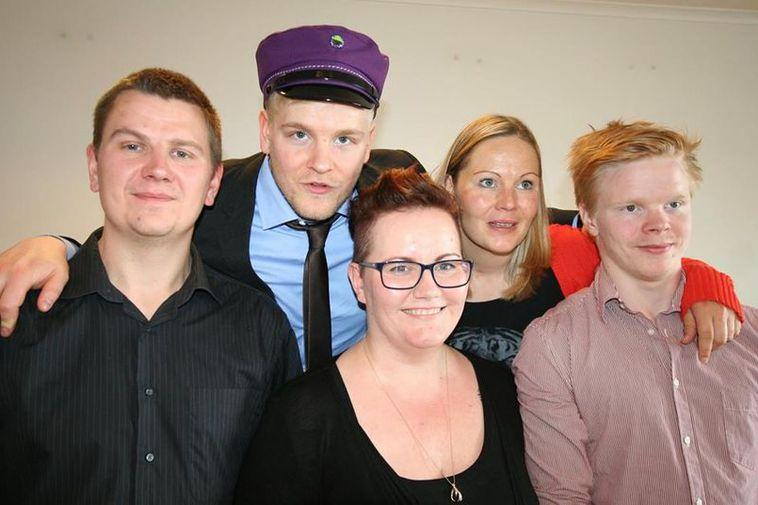 Jón Þröstur with his family.