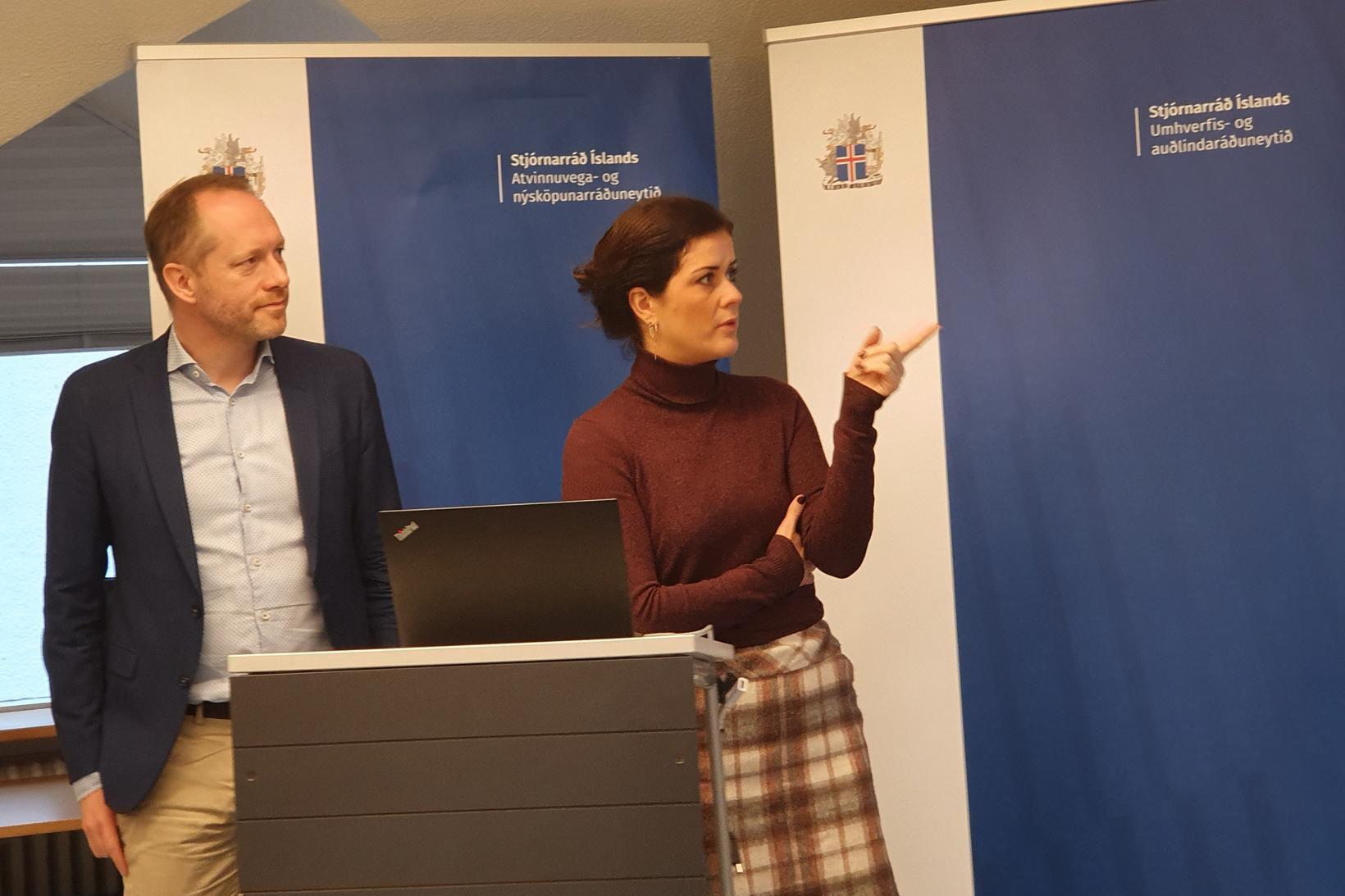 Guðmundur Ingi Guðbrandsson og Þórdís Kolbrún Reykfjörð Gylfadóttir.