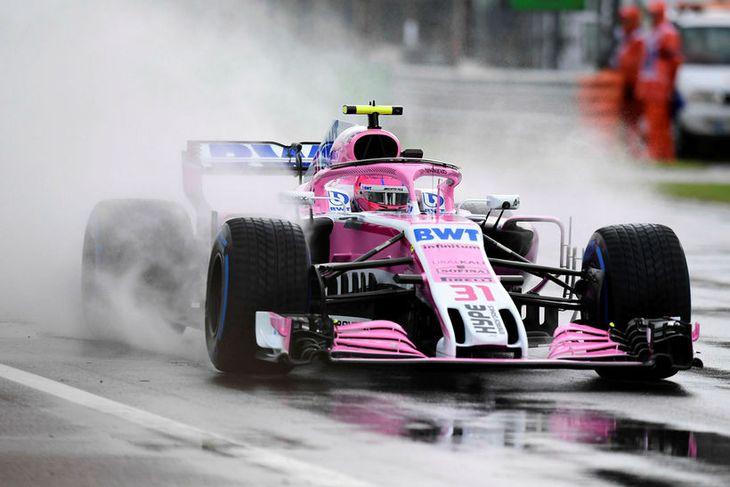 Frakkinn Esteban Ocon átti þriðja besta hringinn í Monza.