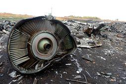 Farþegaþota Malaysia Airlines MH17 rifnaði í sundur yfir lofthelgi Úkraínu er hún varð fyrir flugskeyti.