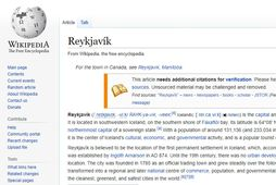 Með því að uppfæra Wikipediu-síðu bæjarins má auðveldlega auka hagnað bæjarins um allt að 100 …
