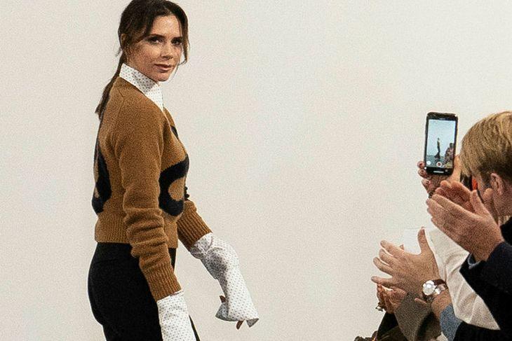 Victoria Beckham nýtur tískuna til að blekkja.