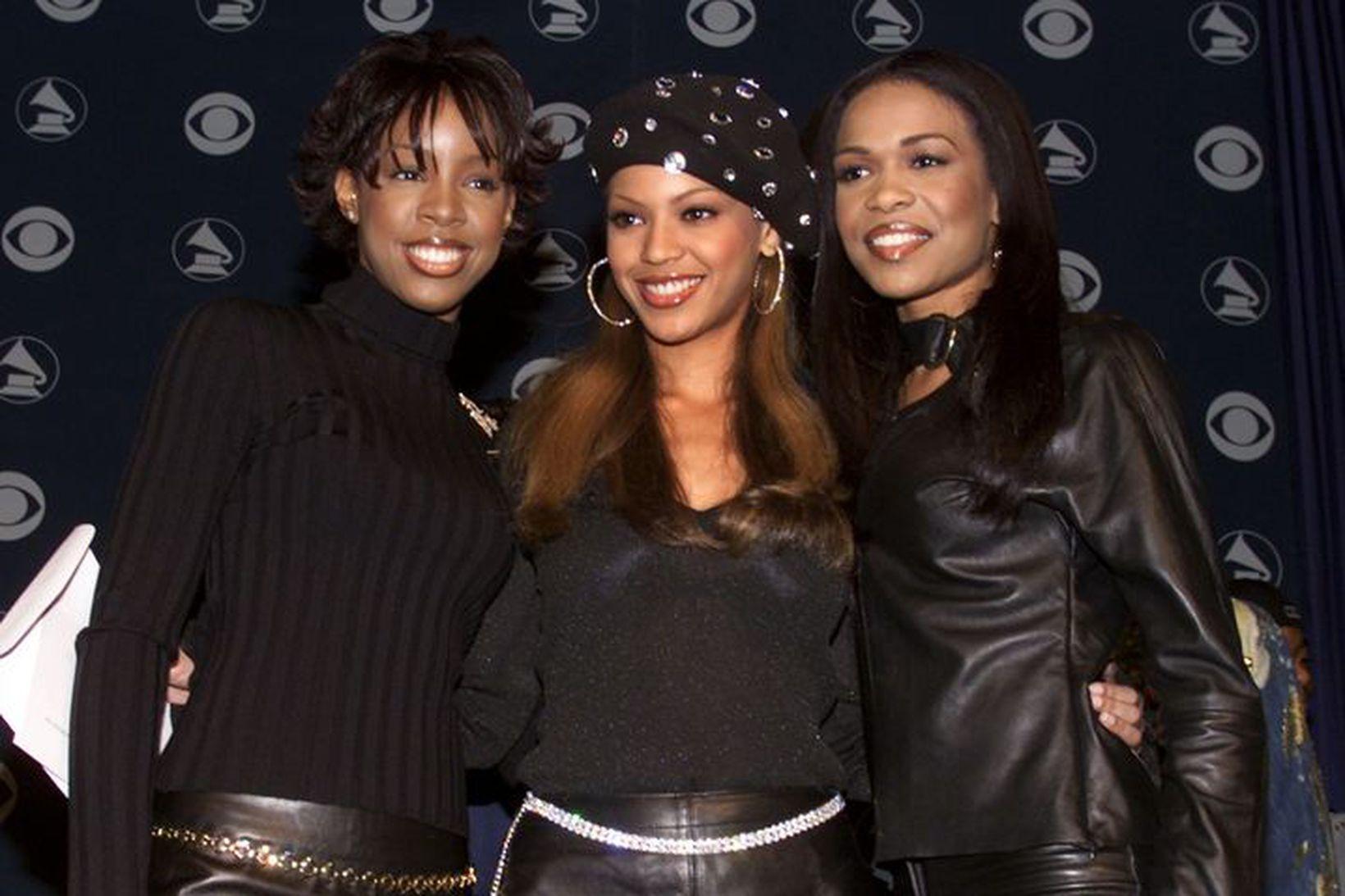 Kelly Rowland, Beyoncé Knowles og Michelle Williams eru góðar vinkonur …