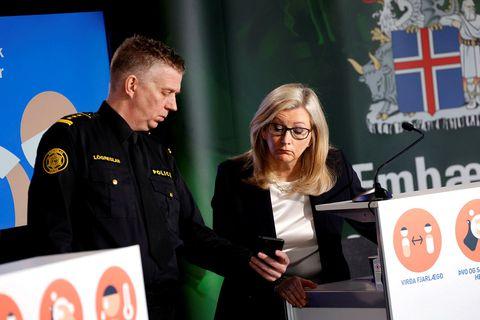 Víðir Reynisson og Alma Möller.