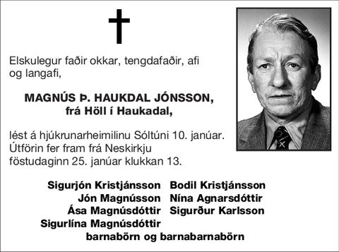 Magnús Þ. Haukdal Jónsson,