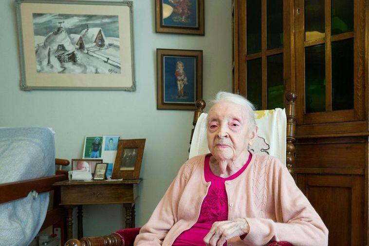 Guðrún Straumfjörð celebrates her birthday at the Sóltún nursing home where she will be indulging ...